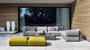 Outdoor Sofa Butterfly (© B&B Italia)