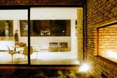 Stuhl und Tisch Saarinen Tulip, Sessel Barcelona von Knoll International