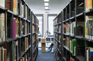 Bibliotheksregal von Zambelli (© H.G. Esch)