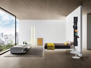 Alu Bett, Regal Randomissimo, Flow Low Table, Grafo Sofa (© MDF Italia)