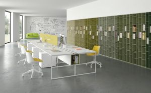 Stühle Flow, Workstation 20.Venti, Regal Random  (© MDF Italia)