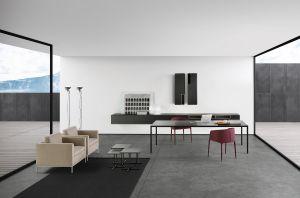 Tense Tisch, Pad Sessel, Beistelltische K-Tables, Sideboard InMotionSystem (© MDF Italia)