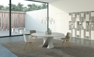 S Table, Stuhl Aiku, Regal Random Box, Bank Le Blanc, Beistelltisch SAG (© MDF Italia)