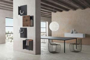 Tisch Tense, Stühle Sign Filo, Square Wall System   (© MDF Italia)