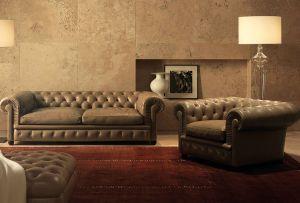 Sofa und Sessel Chester One (© Poltrona Frau)