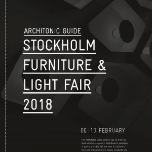 Architonic Guide Stockholm Furniture & Light Fair 2018