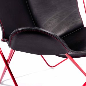 Butterfly Chair - Gestell Rot/Naht Rot (© Manufaktur plus)