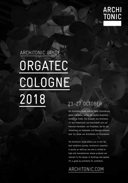 Architonic Guide Orgatec 2018