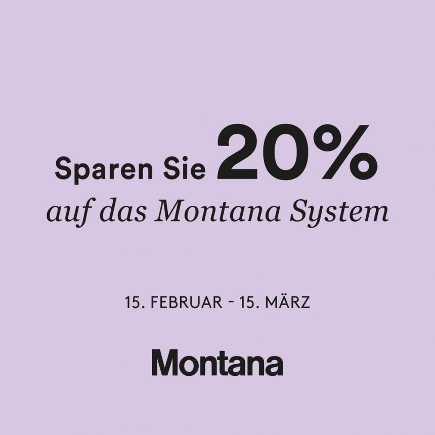 Montana System Aktion Gärtner Internationale Möbel